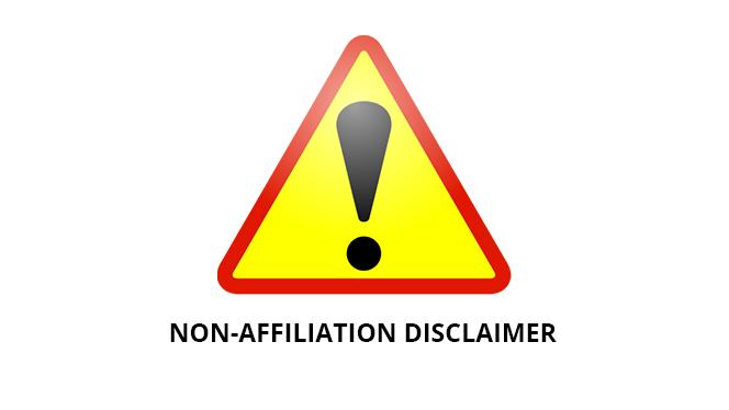 NON-AFFILIATION DISCLAIMER